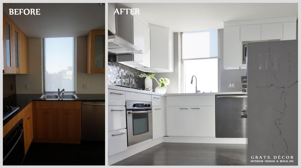 High Rise Kitchen Remodel - Grats Decor Interior Design & Build Inc.