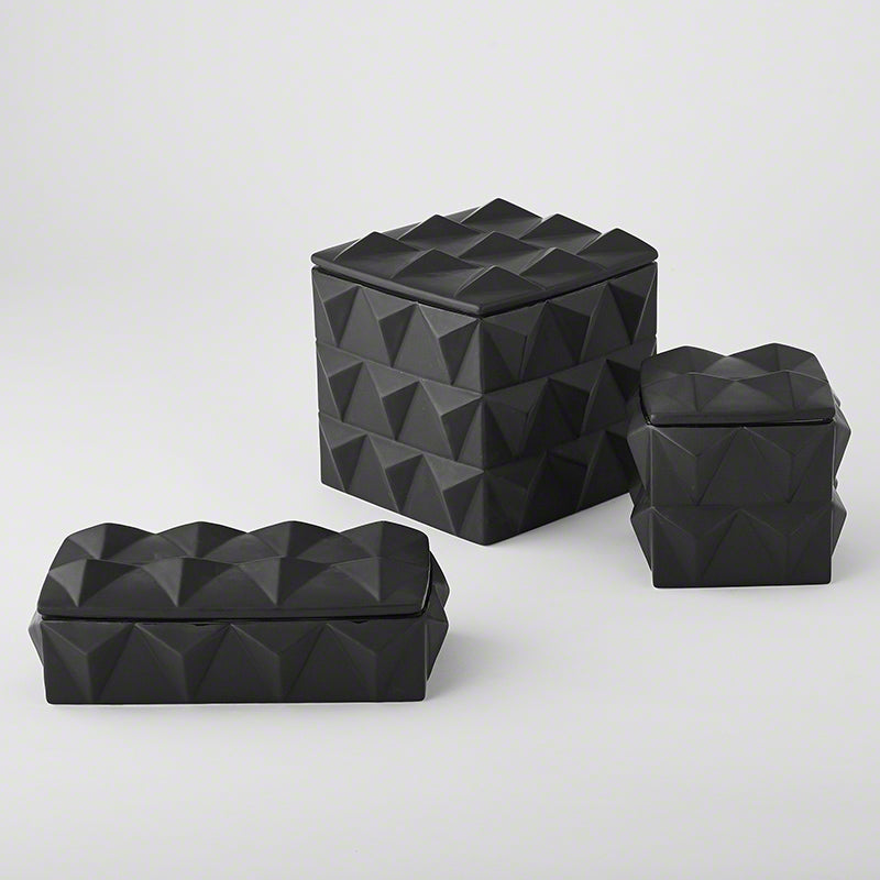 Braque Boxes - Matte Black - S/3 - Grats Decor Interior Design & Build Inc.