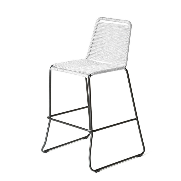 Rope Bar/Counter Stool - White Cord