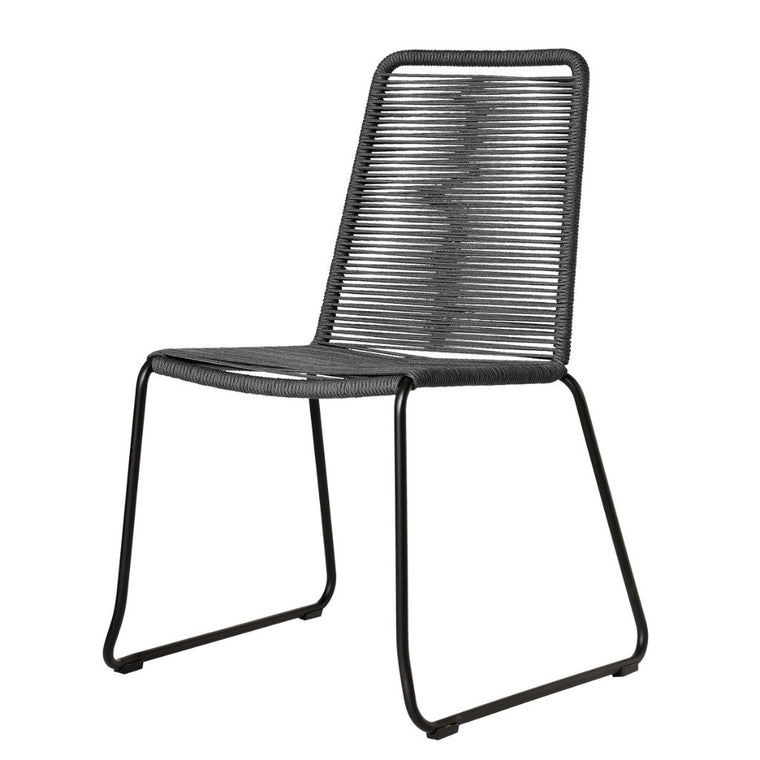 Rope Chair S/2 - Gray