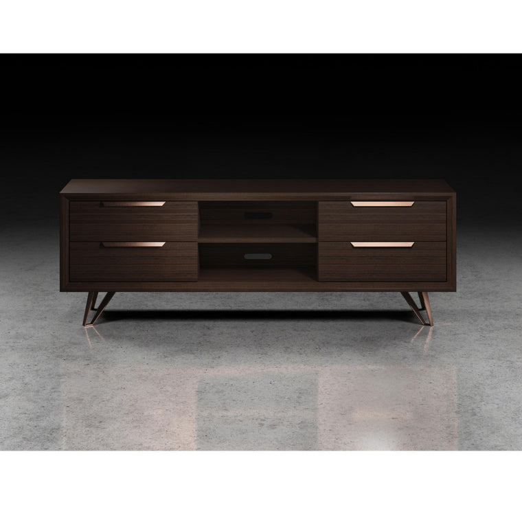 "Espresso over Copper  63"" Media Cabinet - Grats Decor Interior Design & Build, Inc.  - 1"
