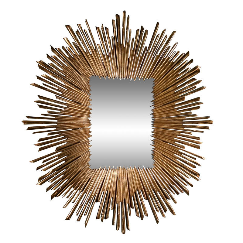 "Soleil 45"" Mirror-Gold Leaf - Grats Decor Interior Design & Build Inc."