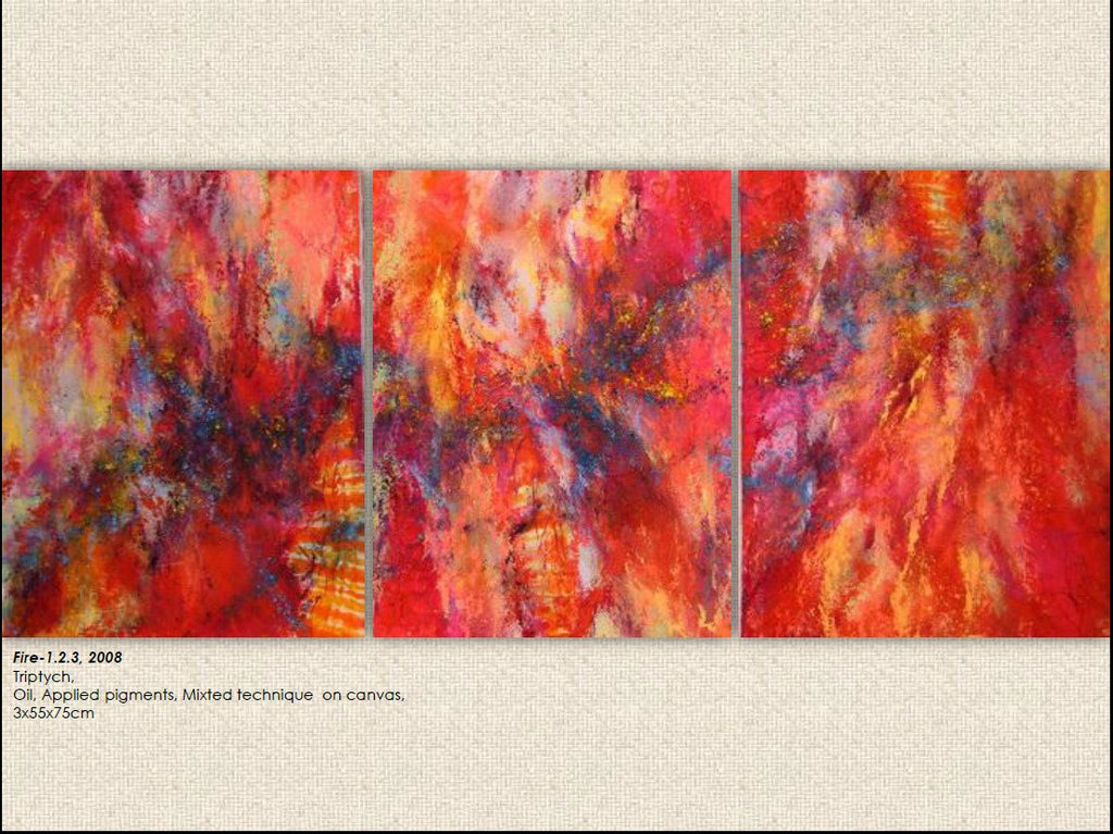 Fire - Elements of Life - Larissa Noury - Original - Grats Decor Interior Design & Build Inc.