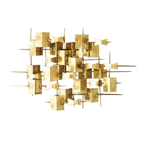Folded Brass Wall Decor - Grats Decor Interior Design & Build Inc.