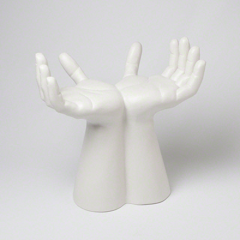 Hands Stool - Matte White - Grats Decor Interior Design & Build Inc.