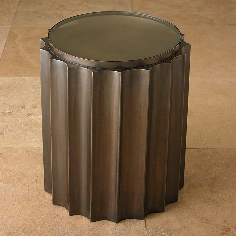 "Fluted Column 18""Dia Table-Bronze - Grats Decor Interior Design & Build, Inc.  - 2"