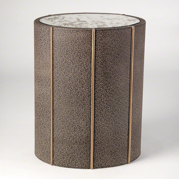 Churchill 16 Quot X 12 Quot Oval Drum Table Faux Shagreen