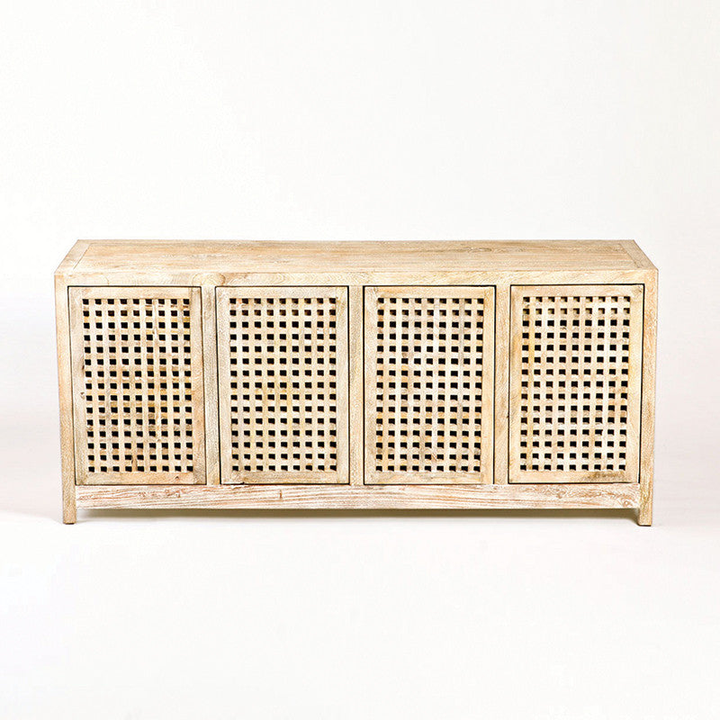 "Driftwood 71""W Lattice Credenza - Grats Decor Interior Design & Build Inc."