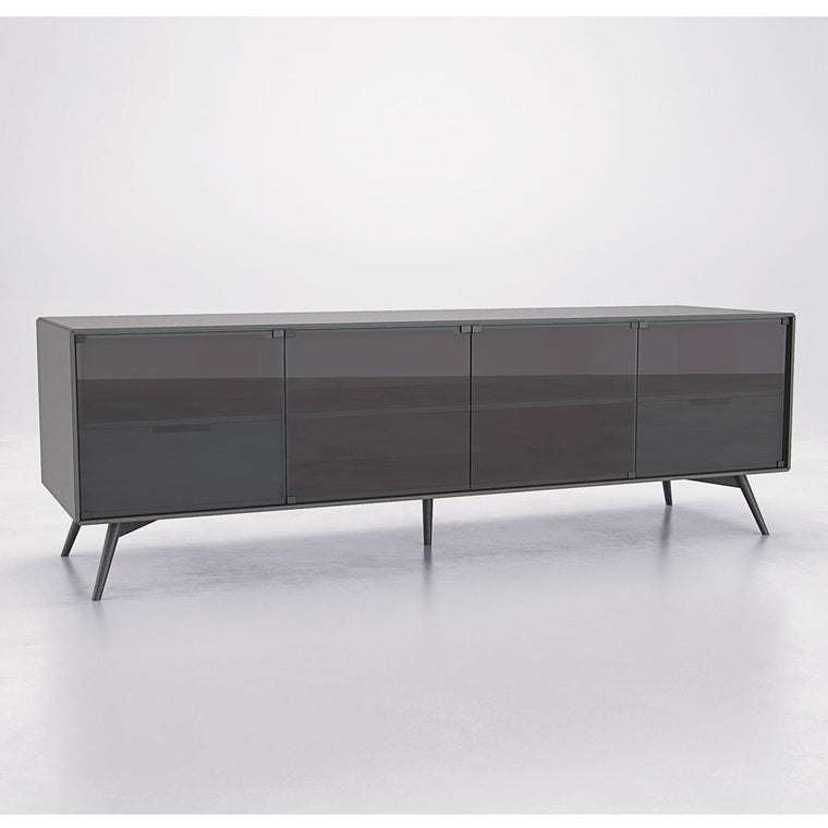 "Asphalt Matte 72"" Media Cabinet - Grats Decor Interior Design & Build Inc."