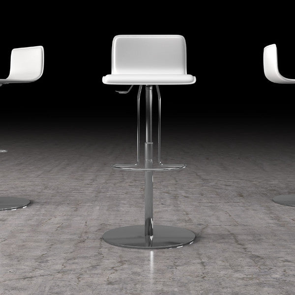 Prato Counter or Bar Stool - White