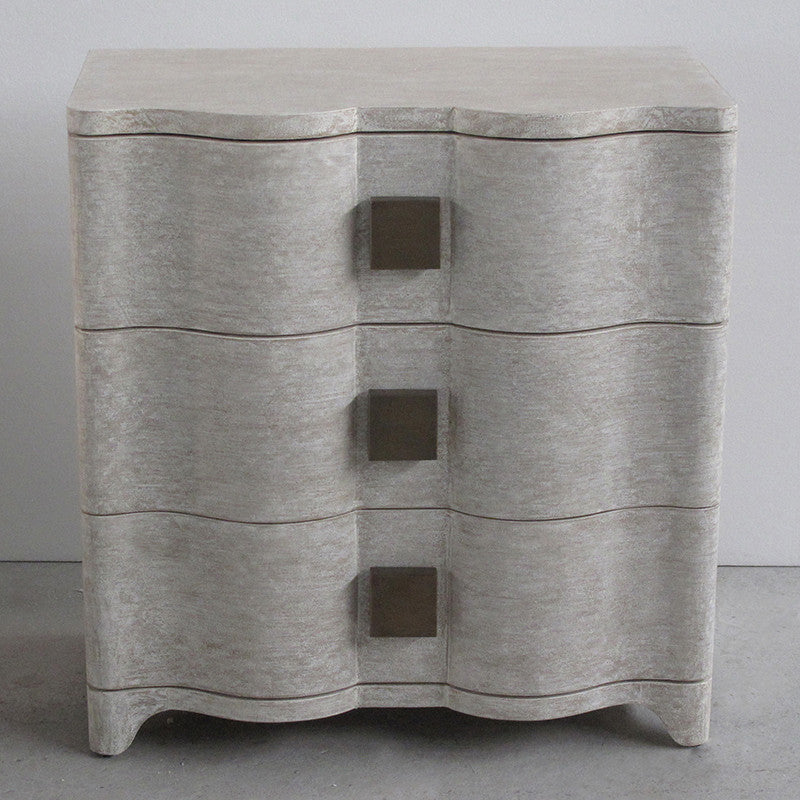 "Studo A Toile 28""W Linen Bedside Chest - Grats Decor Interior Design & Build, Inc.  - 3"