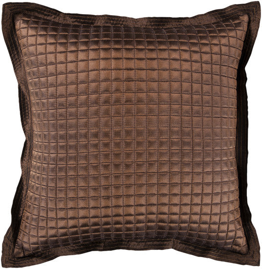 "Dark Brown 22"" Pillow - Grats Decor Interior Design & Build Inc."