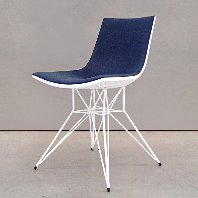 Audley Dining Chair - Blue/ White