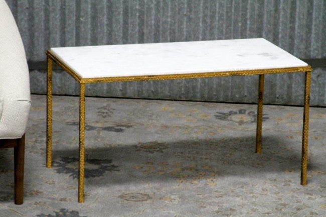 "Hammered Gold 34"" Cocktail Table"