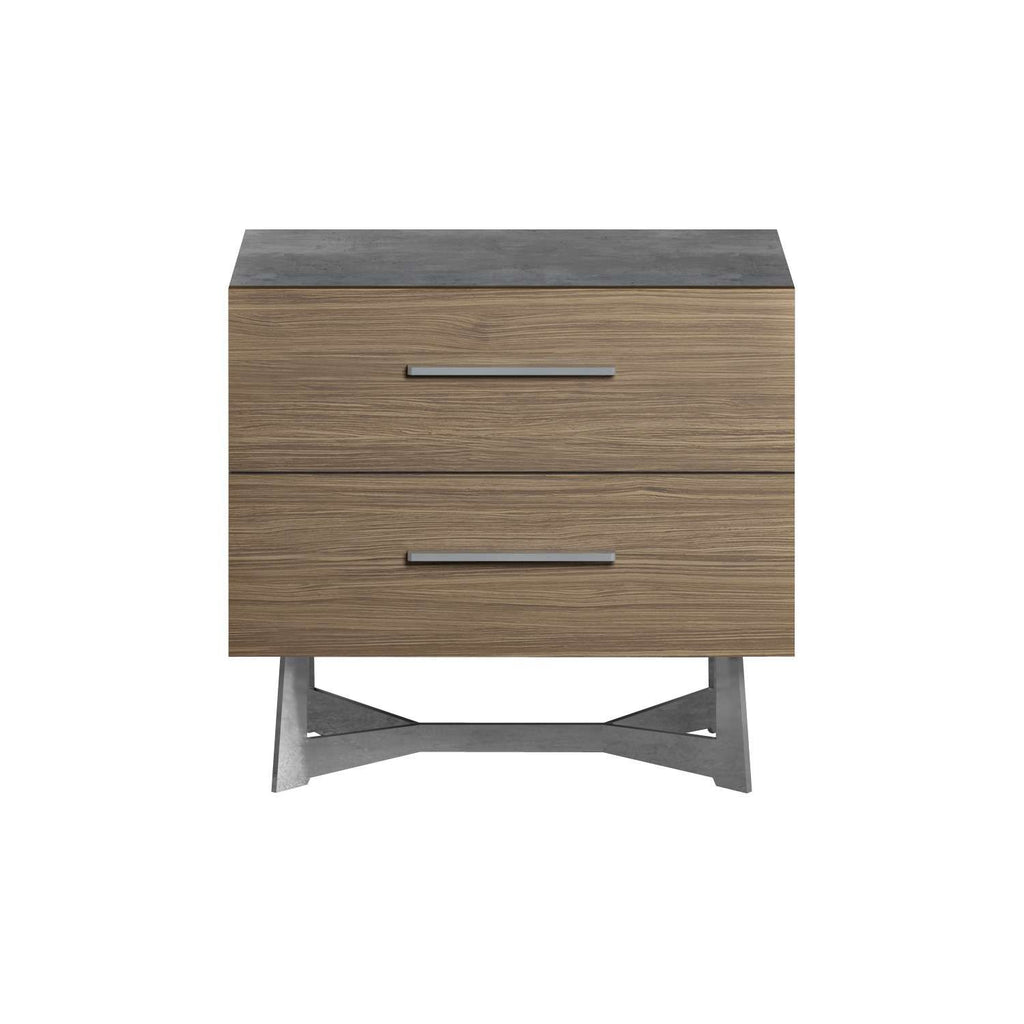 "Concrete & Walnut 24"" Nightstand"