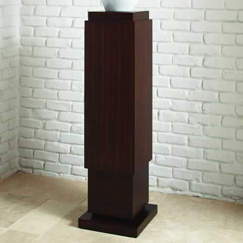 "Skyscraper 14""Sq Pedestal - Grats Decor Interior Design & Build, Inc."