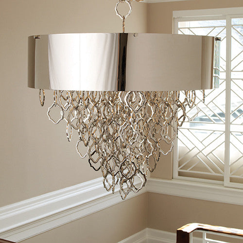 Rain Chandelier - Nickel - Grats Decor Interior Design & Build Inc.