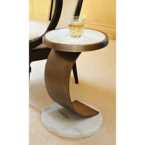 "Cody 15""Dia Accent Table - Grats Decor Interior Design & Build Inc."