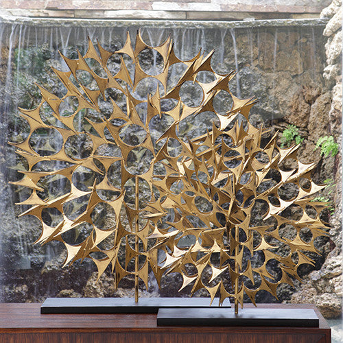 Edith Sculpture - Gold - 2 sizes - Grats Decor Interior Design & Build Inc.