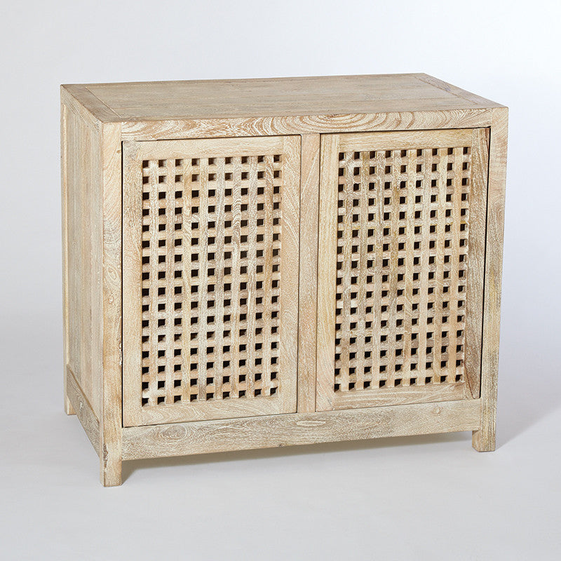 "Driftwood 36""W Lattice 2-Door Cabinet - Grats Decor Interior Design & Build, Inc.  - 1"
