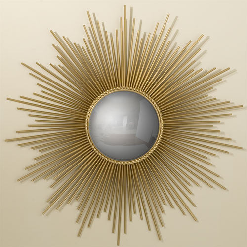 "Sunburst 40""Dia Mirror - Gold - Grats Decor Interior Design & Build Inc."