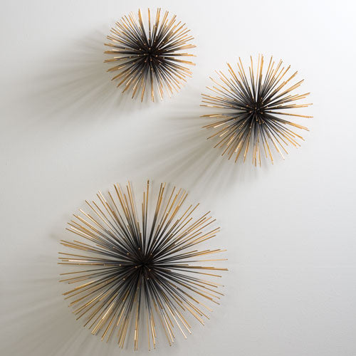 Boom Wall Sculpture - SM/MED/LRG - Brass - Grats Decor Interior Design & Build Inc.