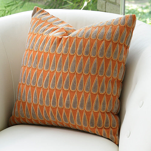Copper Rain Drops Pillow - Grats Decor Interior Design & Build Inc.