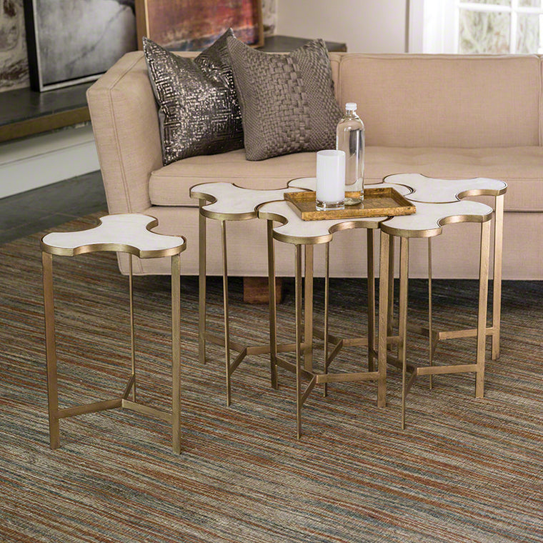 Link Bunching Table (Set of 6) - Antique Gold - Grats Decor Interior Design & Build Inc.