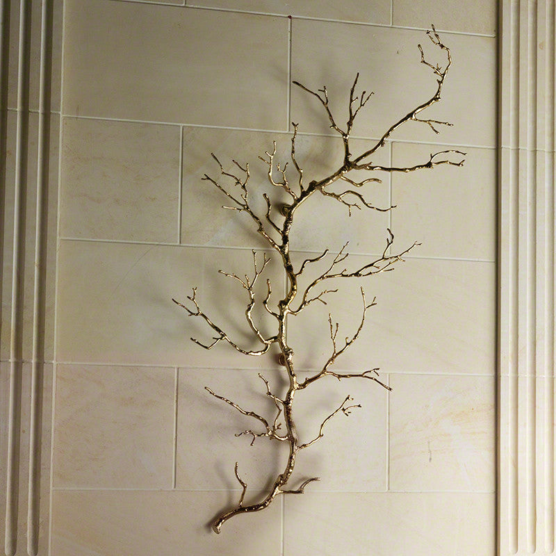 Twig Wall Art - Brass - Grats Decor Interior Design & Build Inc.
