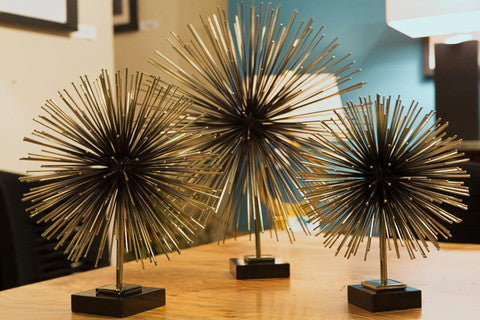 Boom Tabletop Sculpture - SM/MED/LRG - Brass - Grats Decor Interior Design & Build Inc.
