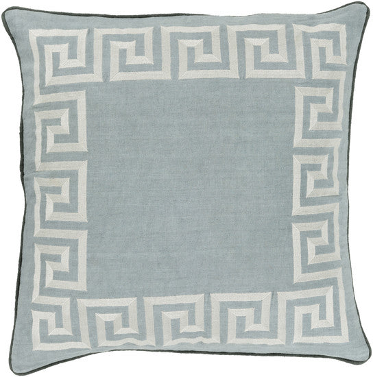 Greek Key Ash Gray Pillow - 3 sizes - Grats Decor Interior Design & Build Inc.