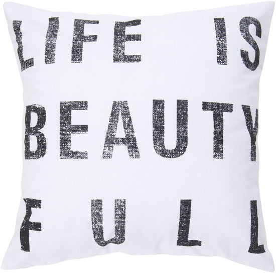 Ivory Beauty-Full Pillow - 2 sizes - Grats Decor Interior Design & Build Inc.