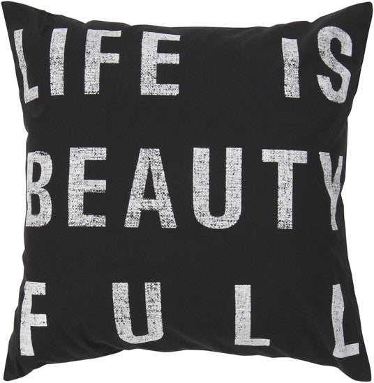 Charcoal Beauty - Full Pillow - 2 sizes - Grats Decor Interior Design & Build Inc.