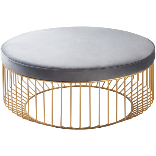 Svetlana Ottoman - Gray - Grats Decor Interior Design & Build Inc.