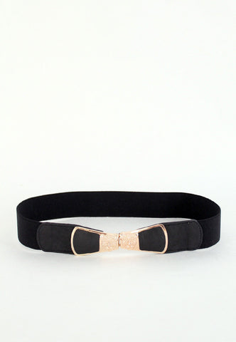 cougar face faux leather belt