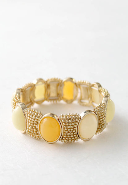 yellow and cream gold bracelet