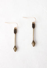 copper toned arrow earrings