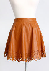 Swept Away Faux Leather Skirt