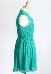 green lace summer dress