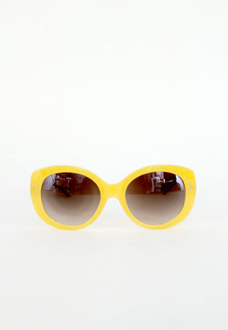large yellow affordable sunglasses