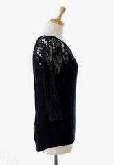light weight black lace sweater