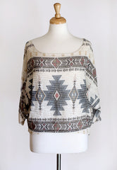 Indian Artifacts Aztec Sweater