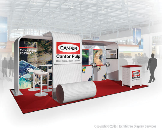 Canfor Pulp - 20x10 Booth Rendering