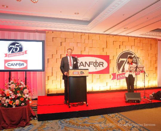 Canfor's 75th Anniversary - Stage Backdrop Graphics