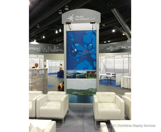 Rental Portfolio - National Public Relations - 20x20 DesignLine Booth Tower Graphics