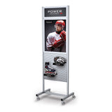 Portable Slatwall Stands Retail Signage Tradeshow Display