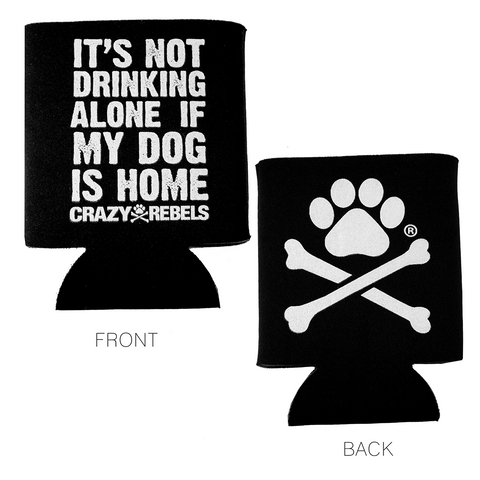 Never Alone Drink Koozie