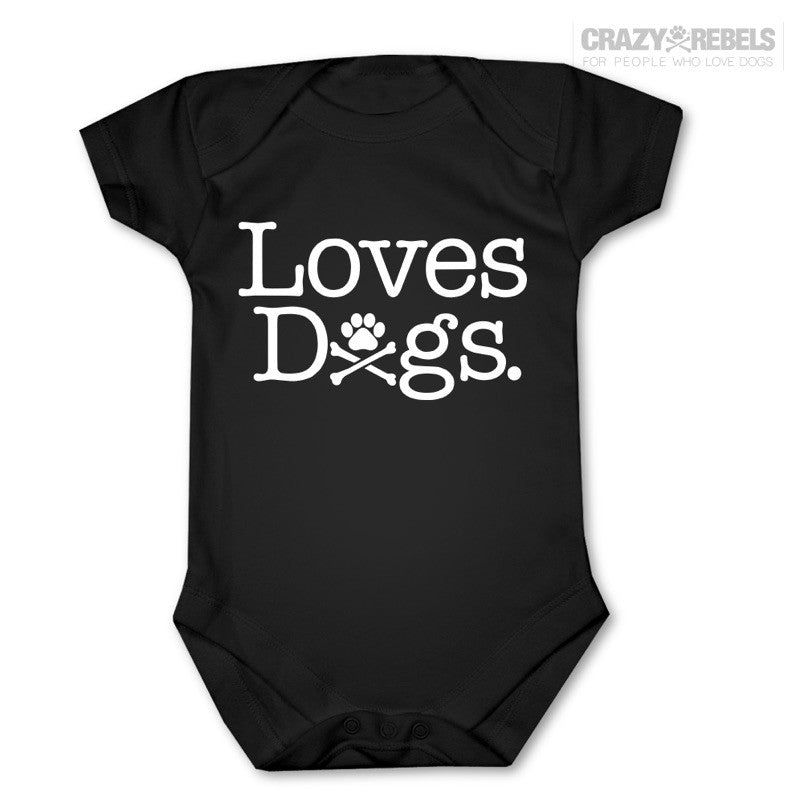 Loves Dogs Baby One Piece