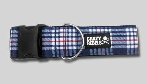 Patriotic Plaid Collar