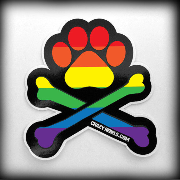 Rainbow Paw Sticker